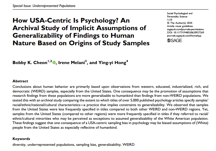 How USA-centric is psychology?